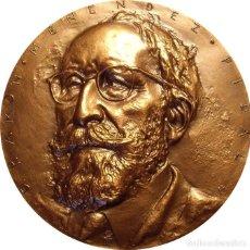 Medallas históricas: ESPAÑA. MEDALLA F.N.M.T. D. RAMÓN MENENDEZ PIDAL. BRONCE. Lote 128563487
