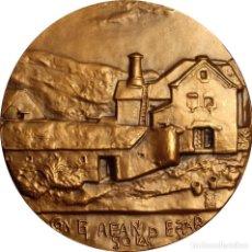 Medallas históricas: ESPAÑA. MEDALLA F.N.M.T. CASA DEL VALLE DE ARÁN. 1.985. BRONCE. Lote 128575539