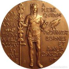 Medallas históricas: ESPAÑA. MEDALLA F.N.M.T. XIX CENTENARIO LEGIÓN VII. LEÓN. 1.968. BRONCE. Lote 128577863