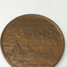 Medallas históricas: MEDALLA XXII CONGRESO EUCARÍSTICO ITERNACIONAL MADRID 1911 DE BRONCE. Lote 128628642