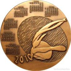 Medallas históricas: ESPAÑA. MEDALLA F.N.M.T. CALENDARIO AÑO 2010. BRONCE. MUY RARA. Lote 128684743