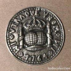 Medallas históricas: MEDALLÓN DE BRONCE CON LA LEYENDA MI VTRAQUE VNOM DE 1764. 110 GRS. NIQUELADA.. Lote 128881927