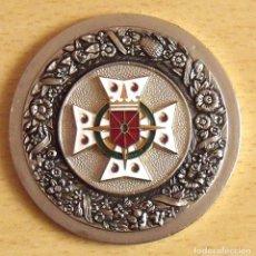 Medallas históricas: MEDALLA COLOR PLATA ASOCIACIÓN DONANTES BENÉVOLOS DE SANGRE DE NAVARRA. 1958.. Lote 131560014