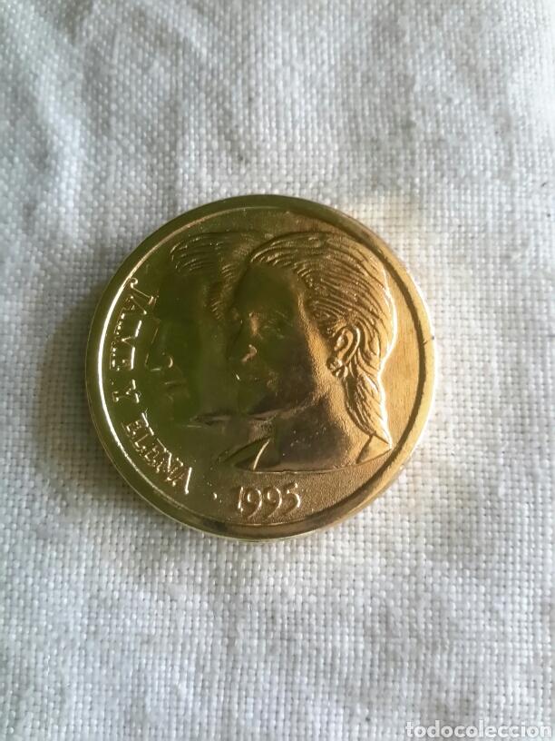 MONEDA CONMEMORATIVA DE LA BODA DE LA INFANTA ELENA (Numismática - Medallería - Histórica)