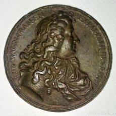Medallas históricas: MEDALLA CONMEMORATIVA DE LUIS XIV. COBRE CINCELADO. FRANCIA. PRINCIPIO SIGLO XVIII. Lote 131920530