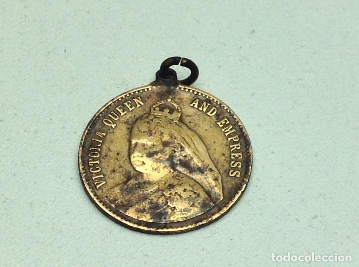 ANTIGUA MEDALLA VICTORIA QUEEN AND EMPRESS (Numismática - Medallería - Histórica)