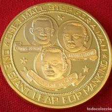 Medallas históricas: MONEDA ORO COMEMORATIVA NASA APOLLO 11 ATERRIZAJE EN LA LUNA . Lote 132912662