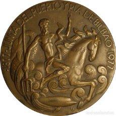 Medallas históricas: ESPAÑA. MEDALLA F.N.M.T. CENTENARIO JUNTA DEL PUERTO DE BILBAO. 1.977. BRONCE. Lote 133754322