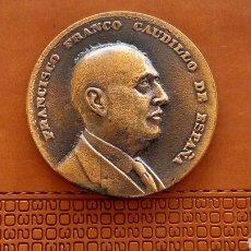 Medallas históricas: MEDALLA FRANCISCO FRANCO VISITA A MARTORELL 1966. Lote 134119695
