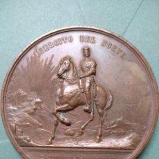 Medallas históricas: MEDALLA DE BRONCE AL EJÉRCITO DEL NORTE, OCTUBRE 1878, DE 7 CM, DE DIAMETRO. Lote 134317574