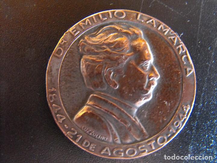 MEDALLA. DR. EMILIO LAMARCA. ADALID DEL CATOLICISMO ARGENTINO. 1944. (Numismática - Medallería - Histórica)