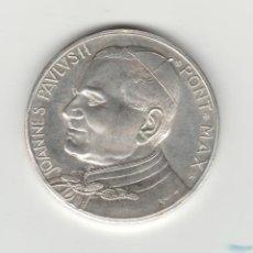 Medallas históricas: MEDALLA DE JUAN PABLO II-VATICANO-PLATA. Lote 135240710