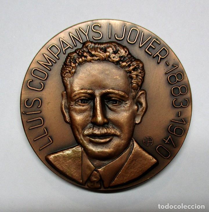LLUIS COMPANYS I JOVER PRESIDENTE DE LA GENERALITAT DE CATALUÑA. MEDALLA. LOTE 0069 (Numismática - Medallería - Histórica)