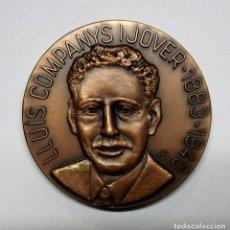 Medallas históricas: LLUIS COMPANYS I JOVER PRESIDENTE DE LA GENERALITAT DE CATALUÑA. MEDALLA. LOTE 0069. Lote 135255330