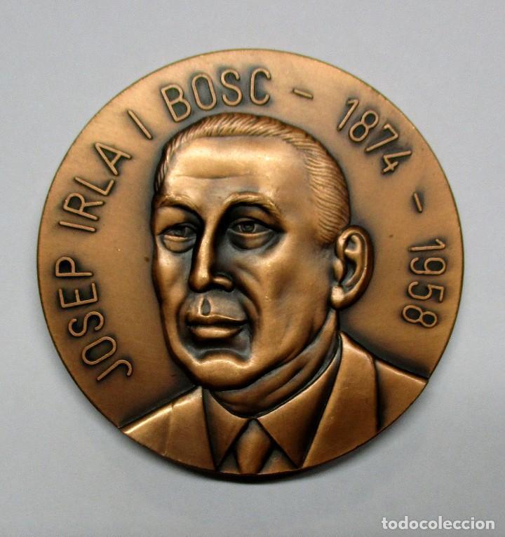JOSEP IRLA I BOSC PRESIDENTE DE LA GENERALITAT DE CATALUÑA. MEDALLA. LOTE 0070 (Numismática - Medallería - Histórica)