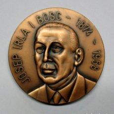 Medallas históricas: JOSEP IRLA I BOSC PRESIDENTE DE LA GENERALITAT DE CATALUÑA. MEDALLA. LOTE 0070. Lote 135255794