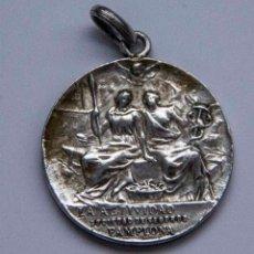 Medallas históricas: MEDALLA DE PLATA - LA ACTIVIDAD SOCIEDAD DE SEGUROS - PAMPLONA - B.SERRANO BILBAO. Lote 132923122