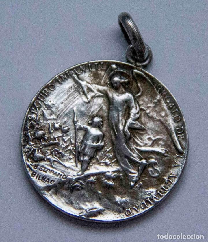Medallas históricas: Medalla de plata - La Actividad Sociedad de Seguros - Pamplona - B.Serrano Bilbao - Foto 2 - 132923122