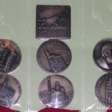 Medallas históricas: CONJUNTO 7 MEDALLAS FILABARNA 2002 AÑO INTERNACIONAL GAUDI. Lote 135353146