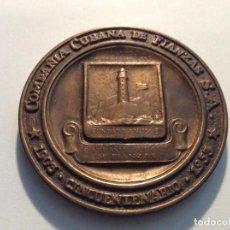 Medallas históricas: MEDALLA COMPAÑIA CUBANA DE FIANZAS SA. CINCUENTARIO DIAM. 7,5CM. Lote 136754762