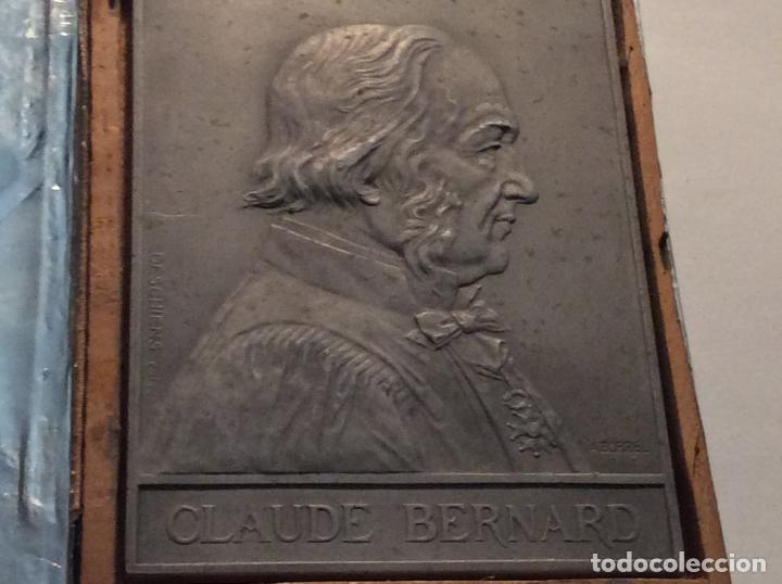 MEDALLA-PLACA CLAUDE BERNARD PERSONAJE HISTÓRICO FRANCÉS. (Numismática - Medallería - Histórica)