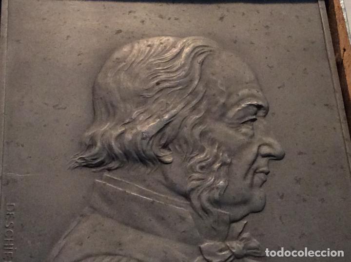 Medallas históricas: Medalla-placa Claude Bernard personaje histórico francés. - Foto 2 - 136980654