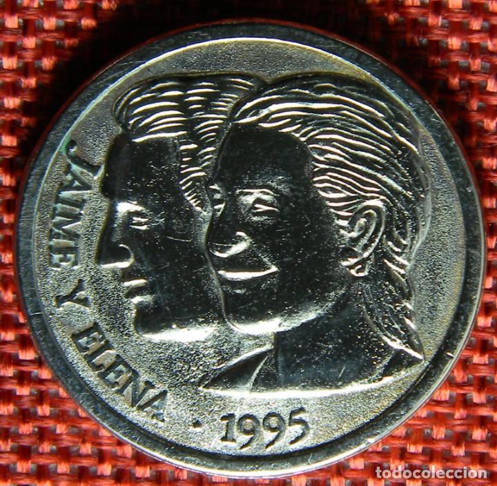 MONEDA CONMEMORATIVA DE BODAS REALES - 1995 - SEVILLA - JAIME Y ELENA - DIAMETRO 31 MM (Numismática - Medallería - Histórica)