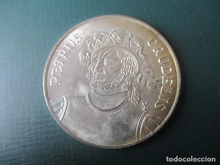 MEDALLA DE PLATA. PEDRO I DE CASTILLA Y LEON (Numismática - Medallería - Histórica)