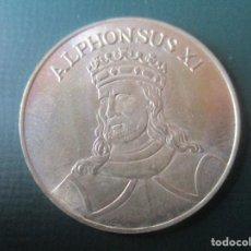 Medallas históricas: MEDALLA DE PLATA. ALFONSO XI DE CASTILLA Y LEON. Lote 137808650