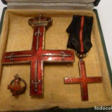 Medallas históricas: CRUZ DE SAN JORGE PRINCIPADO DE GIRONA TRES PIEZAS. Lote 137809954