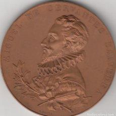 Medallas históricas: MEDALLA: 1905 MIGUEL DE CERVANTES SAAVEDRA - III CENTENARIO PUBLICACION DEL QUIJOTE - B. MAURA. Lote 138157882