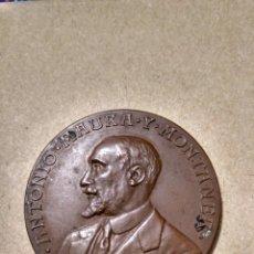 Medallas históricas: 1- MEDALLA 1917 ANTONIO MAURA PRESIDENTE DEL GOBIERNO 40 MM. MALLORCA. Lote 138254557