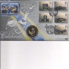 Medallas históricas: GRAN BRETAÑA. SOBRE CON MEDALLA DEL AÑO 2003. Lote 138368158