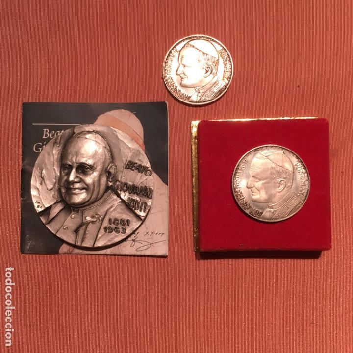 TRES MEDALLAS PAPALES (Numismática - Medallería - Histórica)