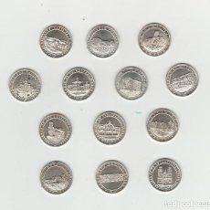 Medallas históricas: ALMERIA- 13 MEDALLAS DE PLATA 925-LA VOZ DE ALMERIA-AÑO 1997. Lote 138903718