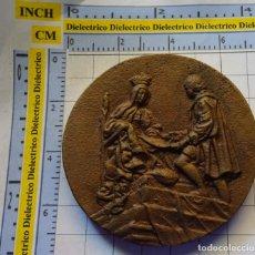 Medallas históricas: MEDALLA MEDALLÓN LIMITADO NUMERADO BRONCE 496 ANIVERSARIO CAPITULACIONES DE SANTA FE. GRANADA 1988. . Lote 138972078
