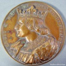 Medallas históricas: MEDALLA EN BRONCE DE LOUIS X ROI DE FRANCE. FIRMADA CAQUÉ. Lote 139952622