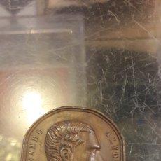 Medallas históricas: MEDALLA 1877 VINICULA MENCION ALFONSO XII ORIGINAL. Lote 140029537
