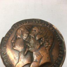 Medallas históricas: FRANCIA. MEDALLA NAPOLEÓN III Y LA EMPERATRIZ EUGENIA. 1853. Lote 140238109
