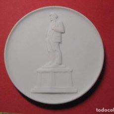 Medallas históricas: MEDALLA DE CERAMICA DE MEISSEN, LENIN DDR RDA ALEMANIA PORCELANA, BISCUIT. Lote 178316998