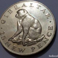 Medallas históricas: GIBRALTAR-MONEDA- 25 NEW PENCE 1971PLATA ( 27,50GR. ) SC UNC (H189 ). Lote 140751970