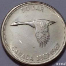Medallas históricas: CANADA-MONEDA- 1 DOLAR 1967PLATA ( 23,32GR. ) SC UNC (H190 ). Lote 140753926