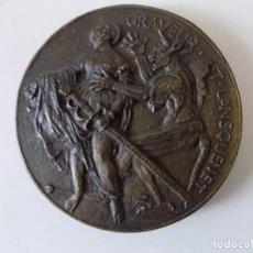 Medallas históricas: LIBRERIA GHOTICA. RARÍSIMO GRAN MEDALLÓN DE BRONCE REALIZADO EN 1897.HOMENAJE URSUS GRAFF.. Lote 140773794