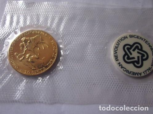 Medallas históricas: ESTADOS UNIDOS . MEDALLA DORADA DE 1976 .BICENTENARIO - Foto 2 - 140812858