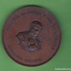 Medallas históricas: MEDALLA ESPAÑA DEL GENERAL ESPARTERO INCOMPLETA 63MM 123 GR. Lote 140850950