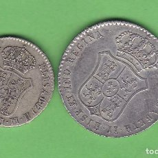 Medallas históricas: LOTE 2 MEDALLAS PROCLAMACION ISABEL II 1833 20 Y 25 MM. Lote 140858750