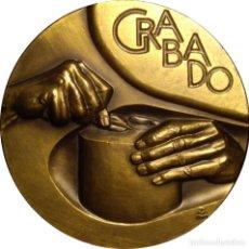 Medallas históricas: ESPAÑA. MEDALLA F.N.M.T. SERIE OFICIOS. GRABADO. 1978. BRONCE. Lote 142289838