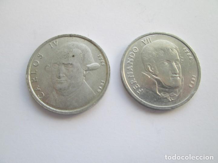 LOTE DE 2 MEDALLAS * CARLOS IV Y FERNANDO VII (Numismática - Medallería - Histórica)