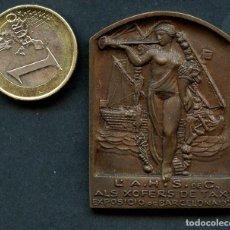 Medallas históricas: AUTOMOVILISMO, MEDALLA, PLACA, XOFERS DE TAXI, EXPOSICIÓ DE BARCELONA, 1930. Lote 142362302
