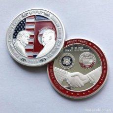 Medallas históricas: MONEDA CONMEMORATIVA DEL 2018 - DONALD J. TRUMP Y KIM JONG UN - PEACE TALK CUMBRE. Lote 143040182